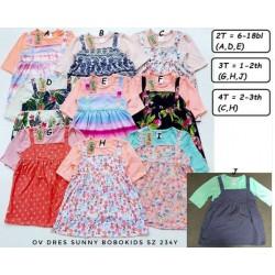 Dress Flowla Bobokids uk 6-18bl, 1-2th, 2-3th idr 35rb per pc (overal nempel, bukan lepasan)