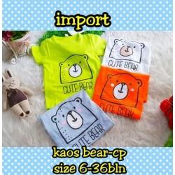 Kaos Cute Bear 6-36bl idr 29rb per pc
