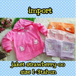 Jaket Strawberry idr 50rb per pc
