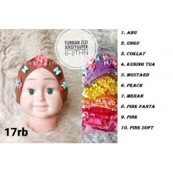 Turban Bayi Bunga Besar Motif 6-18 Bulan