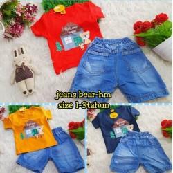 Setelan Anak Jeans Bear idr 68rb per stel