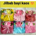 Jilbab Baby Kaos Bunga 0-12bl idr 43rb per pc