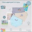 CD Sorex Kids Transportation uk M (2-4th), L (5-6th), XL (7-10) idr 45rb per pack isi 3pc