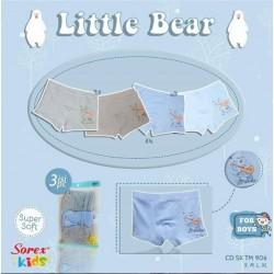 CD Boxer Sorex Kids Little Bear uk M (2-4th), L (5-6th), XL (7-10) idr 50rb per pack isi 3pc