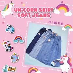 Rok jeans unicorn little dino