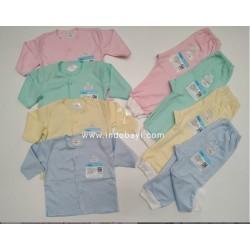 Setelan Panjang Baby Miyo Polos uk 0-3bl idr 33rb per stel, uk 3-6bl idr 35rb per stel