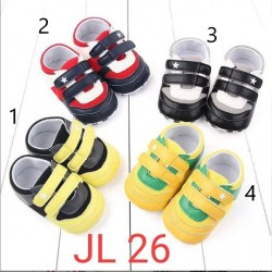 Sepatu Bayi Prewalker Velcro Bintang JL 26 uk 0-6bl, 6-12bl, 12-18bl idr 50rb per psg