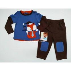 Setelan Baby Nuby Racoon Brown uk 3-6bl, 6-9bl, 9-12, 12-18bl, 18-24bl idr 90rb per stel idr 90rb per stel