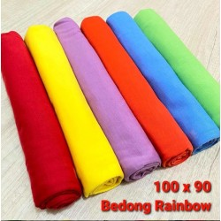 Bedong Polos Rainbow idr 110rb per pack isi 6pc