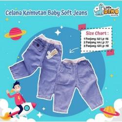 Celana Keimutan rip baby soft jeans