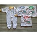 Sleepsuit Baby Miyo Putih List Warna Tutup Kaki idr 28rb per pc