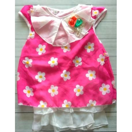 Dress Bunga Pita Warna Pink 1-2th idr 50rb per pc