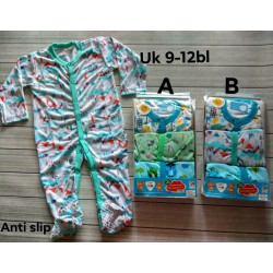 Sleepsuit Libby Baby 9-12bl Anti Selip idr 185rb per pack isi 3pc