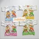 Baju Pendek Bayi Single Friends 0-6bl idr 25rb per 4pc