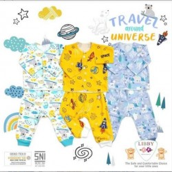 Setelan Panjang Libby Baby Travel 0-3bl idr 35rb per stel, uk 3-6bl idr 37rb per stel