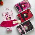 Baby Gift Set Dress Baby Angsa + Sepatu + Bando 0-9bl idr 75k