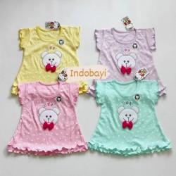 Dress Baby Nobuko Bear Warna 0-6bl idr 29k per pc