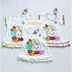 Dress Baby Nobuko Rabbit 0-6bl idr 29k per pc