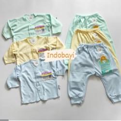 Setelan Panjang Libby Baby Polos 0-3bl idr 30rb per stel
