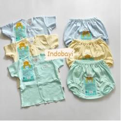 Setelan Pendek Libby Baby Polos 3-6bl idr 30rb per stel