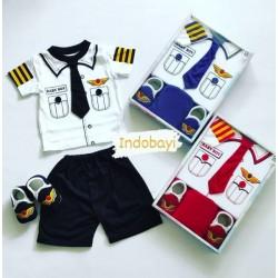 Baby Gift Set Boy Garis 6-18bl idr 75rb per stel