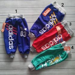 Celana Panjang Adidas uk S 1-2th, M 2-3th, L 3-4th, XL 4-5th, XXL 5-6th
