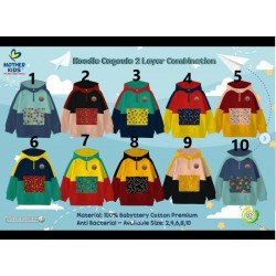 Jaket Hoodie Mother Kids Cagoule UK 2,4,6,8,10 (2-10th) idr 95rb per pc