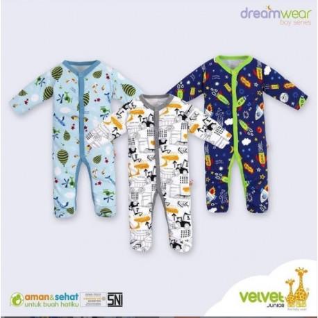 Sleepsuit Dream Wear Velvet Junior Ecer idr 45rb per pc