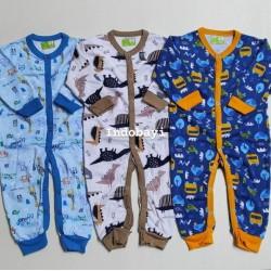 Sleepsuit Dream Wear Buka Kaki Velvet Junior Boy Girl uk 3-6bl, 6-9bl, 9-12bl