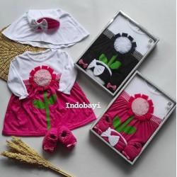 Baby Gift Set Dress Baby Tutu Mahkota 0-9bl idr 75rb per set