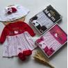 Baby Gift Set Dress Tutu Set Minie Polka 0-12bl idr 75rb per set
