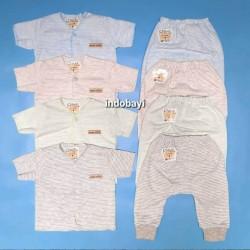 Setelan Baby Chiyo Salur Softly Pendek Panjang 0-3bl idr 38rb per stel