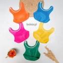 Celemek Makan Bayi Silikon Adjustable / Slaber Bib Anti Air idr 24rb per pc