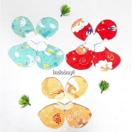 Set Topi Sarung Tangan Kaki Chiyo Ikan idr 25rb per set