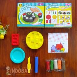 Mainan Cetakan Sushi + batangan malam idr 30rb per set
