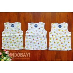 Singlet Ridges motif Bee uk M 6-18bl idr 30rb per 3pc, uk L 33rb per 3pc, uk XL 36rb per 3pc