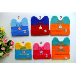 Kupluk Rajut Little star 0-18bl idr 32rb per pc