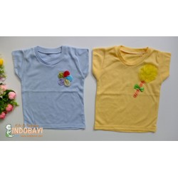 Kaos Oblong Love Baby Bunga 1-2th idr 22rb per pc