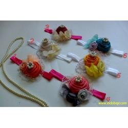 Headband Bunga Mutiara 0-36bl idr 19rb per pc