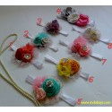 Headband Bunga Mutiara Renda 0-36bl idr 19rb per pc