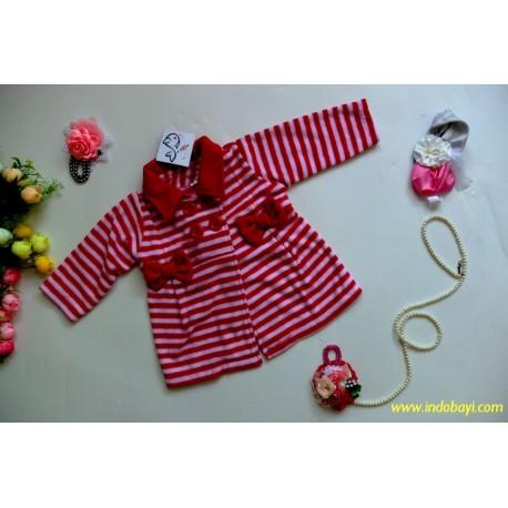 Jaket Blazer Salur Merah