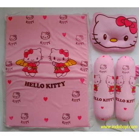 Set Kasur Lipat Bantal Guling Atta Hello Kitty idr 57rb per pc