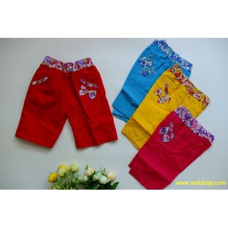 Celana Anak Pendek Katun Girl idr 23rb per pc
