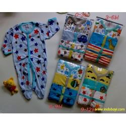 Grosir 4Pack Sleepingsuit Baby Next Bean uk 0-12bl idr 380rb per pack isi 3pc