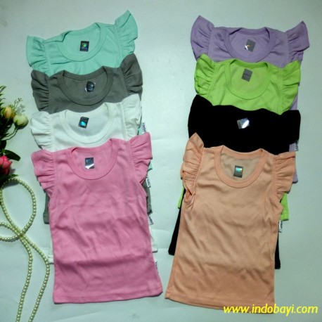 Kaos Baby Ruffle Kazel uk S 1-2th idr 27rb, M 2-3th idr 28rb, L 3-4th idr 29rb