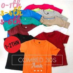 Kaos Oblong Bunga Tiga 1-2th idr 20rb per pc