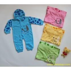 Sleepingsuit GL Motif Dog Bertopi 0-3bl idr 35rb per pc