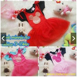 Dress Overal Minie Kerlip Kaos Lepas idr 55rb per pc