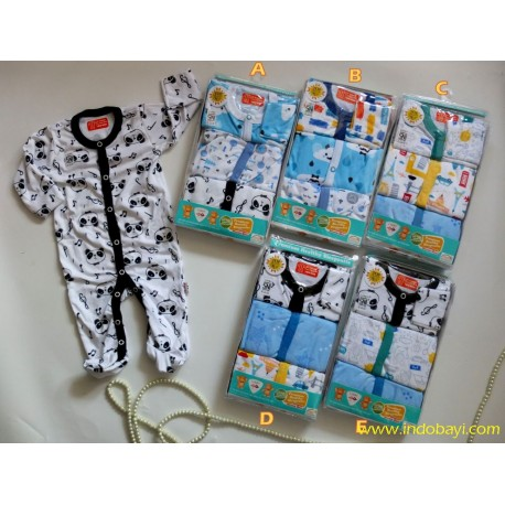 Sleepingsuit Libby Baby Boy 0-3bl idr 140rb per pack isi 3pc