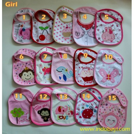 Slaber Bib Carter Girl idr 18rb per pc
